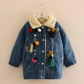 Seashells Kids Kids Fleece Lined Denim Jacket N/A