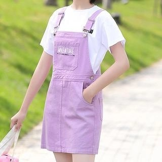 YICON Lettering Pinafore Dress