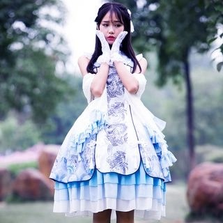 Nuwa Sleeveless A-line Lolita Dress