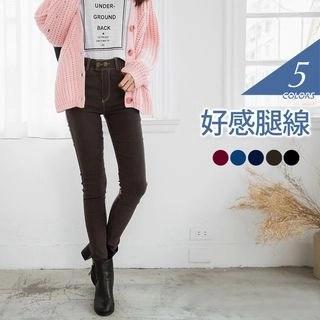 OrangeBear 2-Buttoned Open Bleached Skinny Jeans