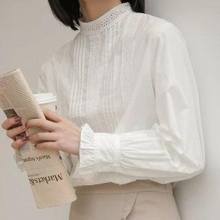 KANAMI Long-Sleeve Lace Blouse