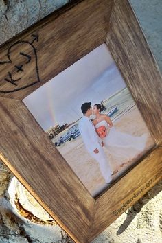 An embossed photo frame