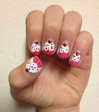 cupcake nail art | affatshionista