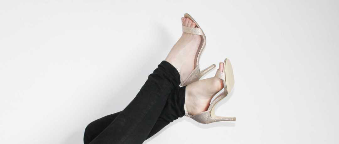 Photo de mes sandales à talon dorées Newlook look #chic #elegant #chaussures