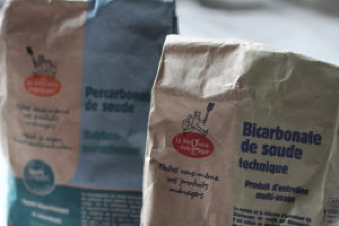 Photo de sachets de bicarbonate et percarbonate de soude #lessive #homemade