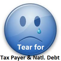 tear tax payer and national debt