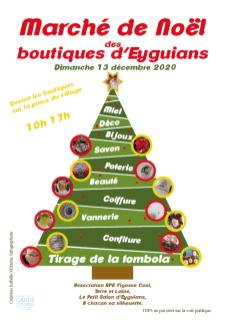 Flyer pour marché de Noël