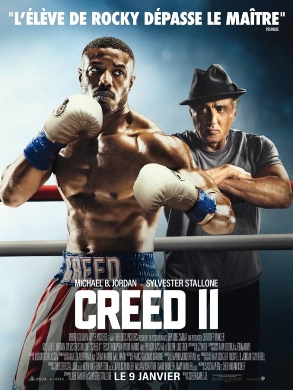 affiche du film Creed II avec les 2 protagonistes du film.