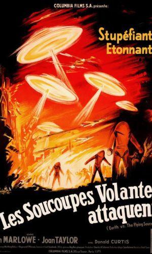 Affiche de cinéma Les soucoupes volantes attaquent