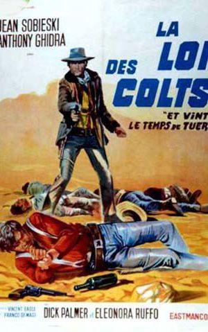 Affiche de cinéma La loi des Colts