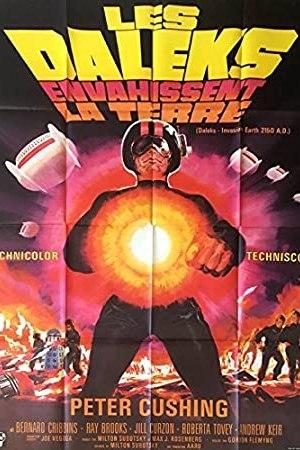 Affiche de cinéma Les daleks envahissent la terre
