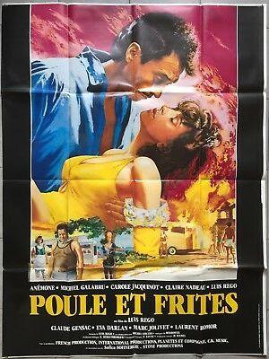 Affiche de cinéma Poule et frites