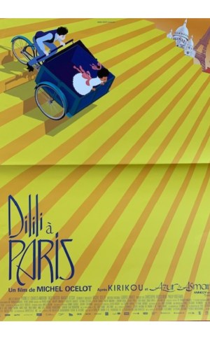 Affiche de cinéma Dilili à Paris