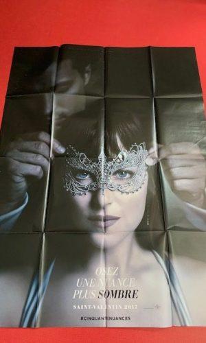 Affiche de cinéma 50 nuances plus sombres