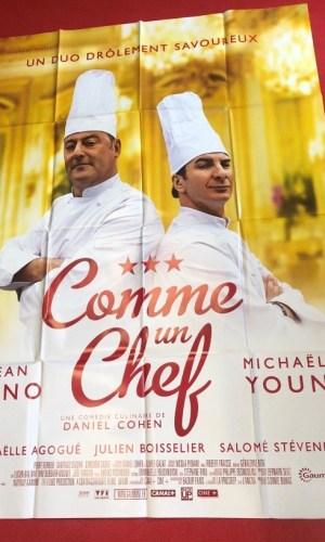 """Affiche du film """"Comme un chef"""" (2012) 120*160cm avec Michaël Youn et Jean Reno"""