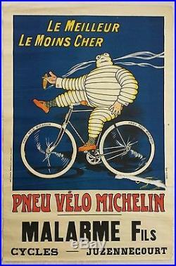 Ancienne affiche publicitaire Pneu vlo MICHELIN OGalop