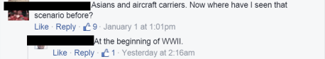 Asians and Aircraft Carriers