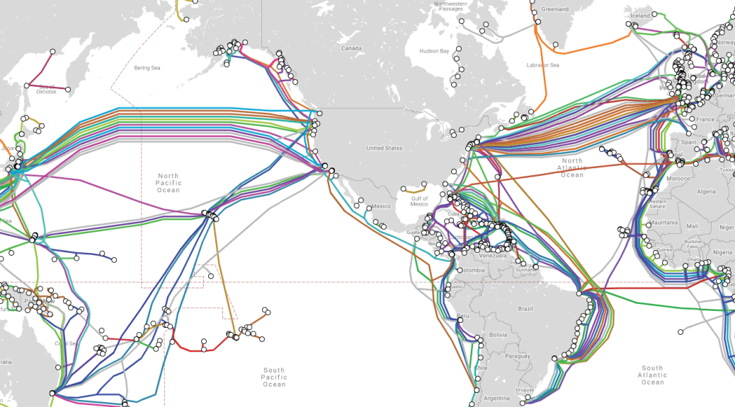 Map of Internet Cables Source: https://www.submarinecablemap.com/#/