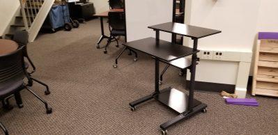 moblie desk closeup