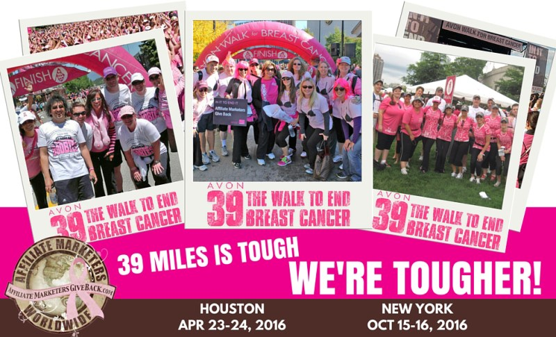 Affiliate Marketers Give Back 2016 Avon Walks
