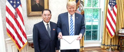 North Korean envoy gives Trump a big letter.