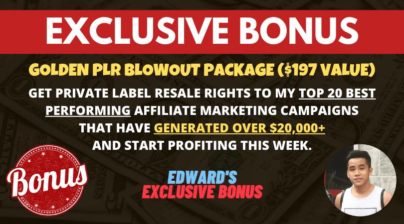 bonus golden plr blowout package