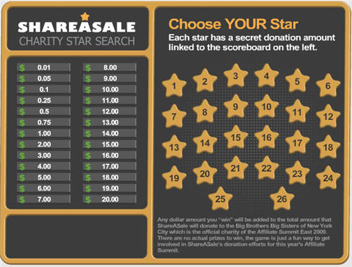 ShareASale Charity Star Search