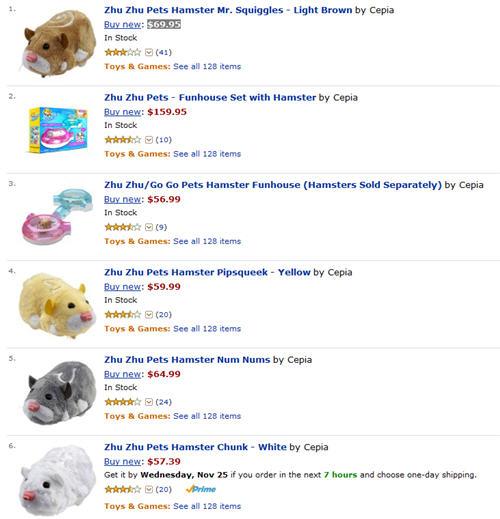 Zhu Zhu Pets on Amazon.com