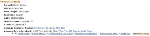 Extra Money Answer was #1 in Web Marketing on Amazon in Canada