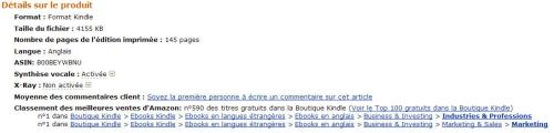 Extra Money Answer was #1 in Marketing on Amazon in France