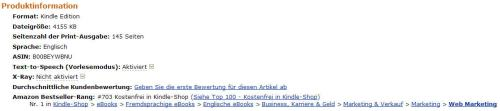 Extra Money Answer was #1 in Web Marketing on Amazon in Germany