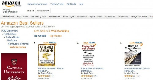 Extra Money Answer was #1 in Web Marketing on Amazon