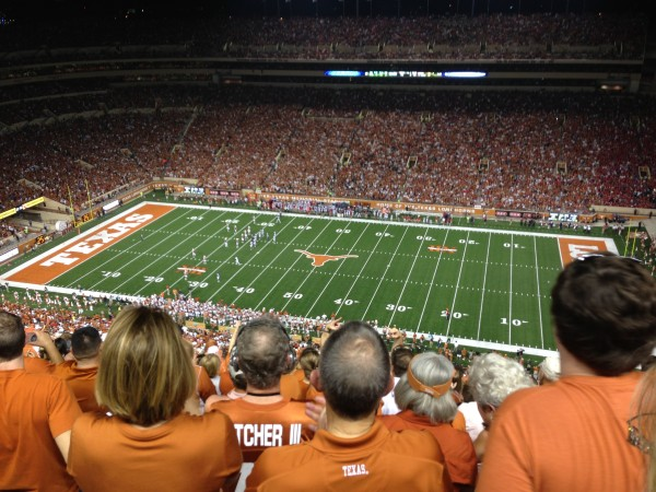 Watching a Texas Longhorns Game - September 2013