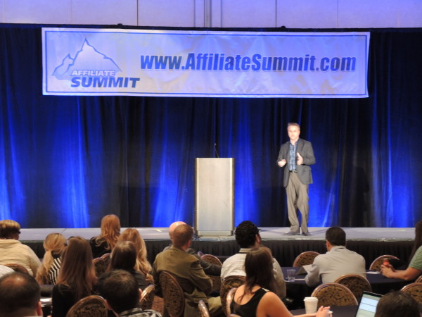 Steve Denton keynote at Affiliate Summit West 2014