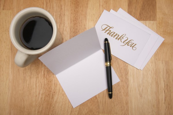 Send thank you cards to people you meet