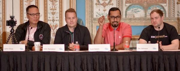 John Chow, John Rampton, Syed Balkhi, and Zac Johnson at Affiliate Summit West 2017