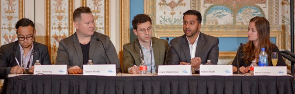 Alex Tshering, Jason Kryski, Marc Kelechava, Maria Claudio, and Niket Shah at Affiliate Summit West 2017