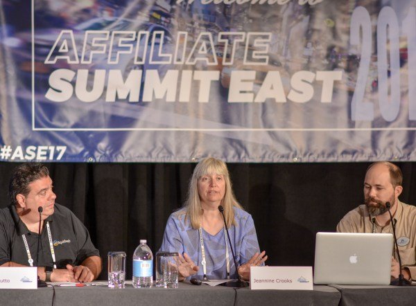John LoBrutto, Jeannine Crooks, and Mike Allen at Affiliate Summit East 2017