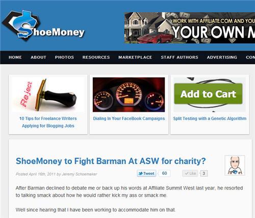 ShoeMoney fight challenge