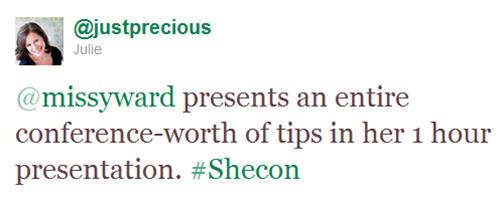 SheCon Tweet