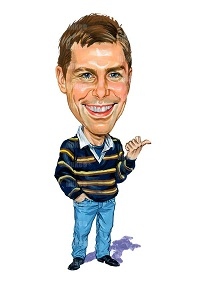 Shawn Collins caricature
