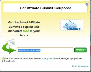 fake coupon opt-in