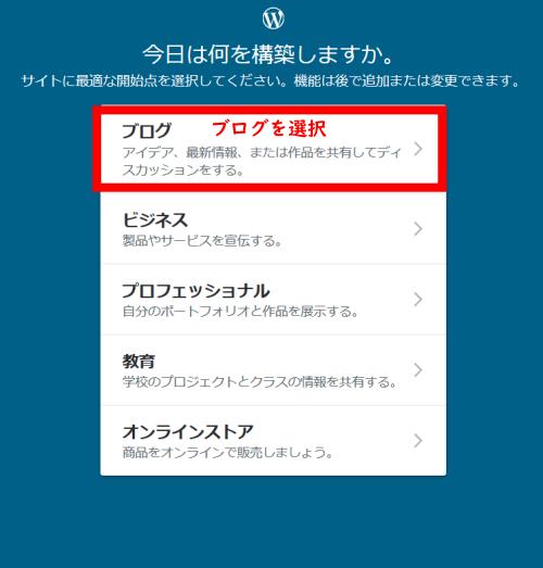 Wordpress.com登録