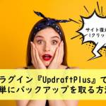 UpdraftPlusで簡単にバックアップを取る設定方法