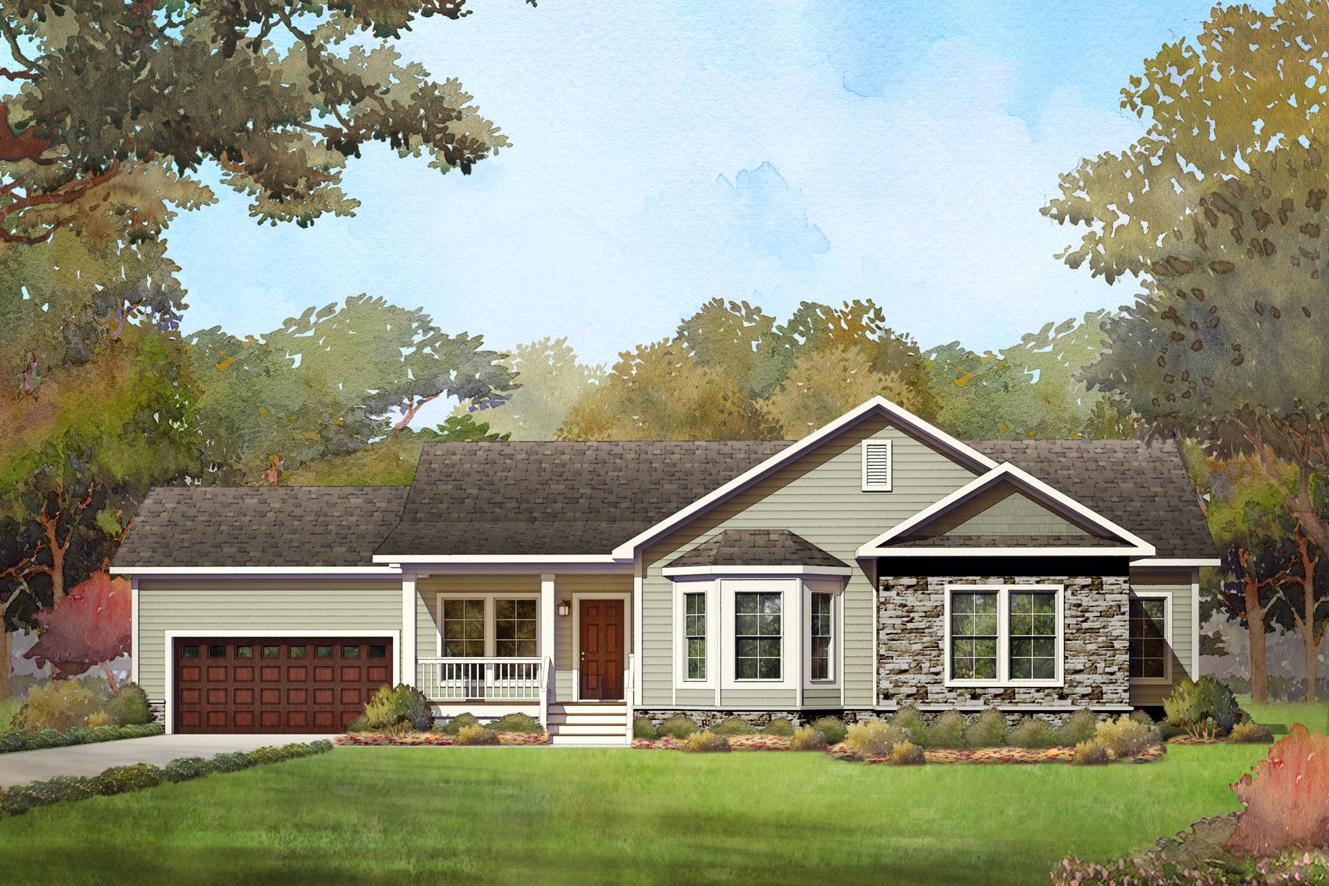 chapel lake modular home rendering