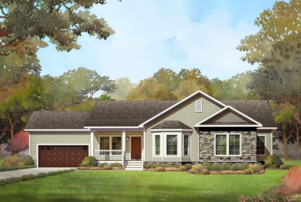 chapel lake modular home rendering