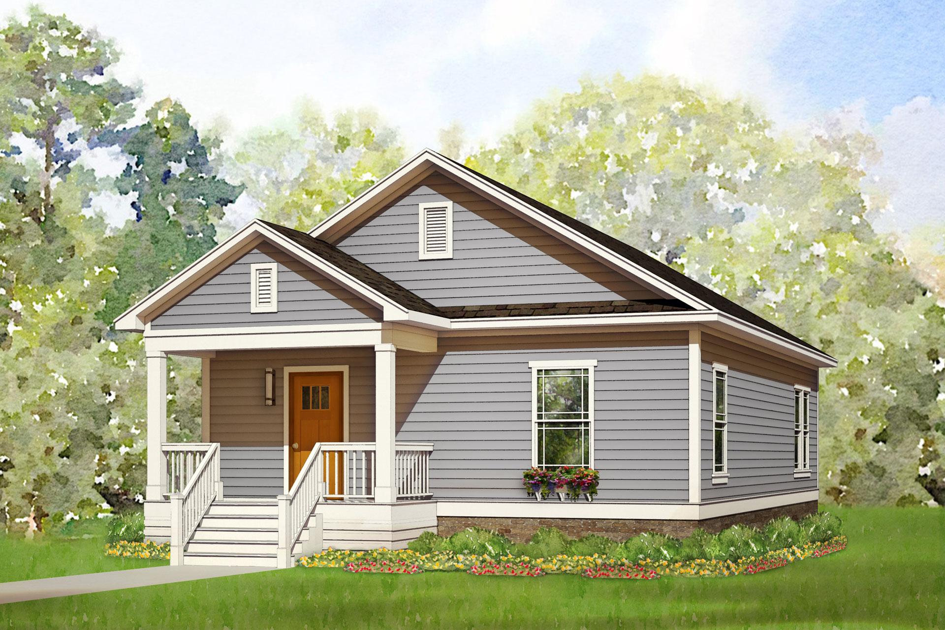 glenn cove modular home rendering