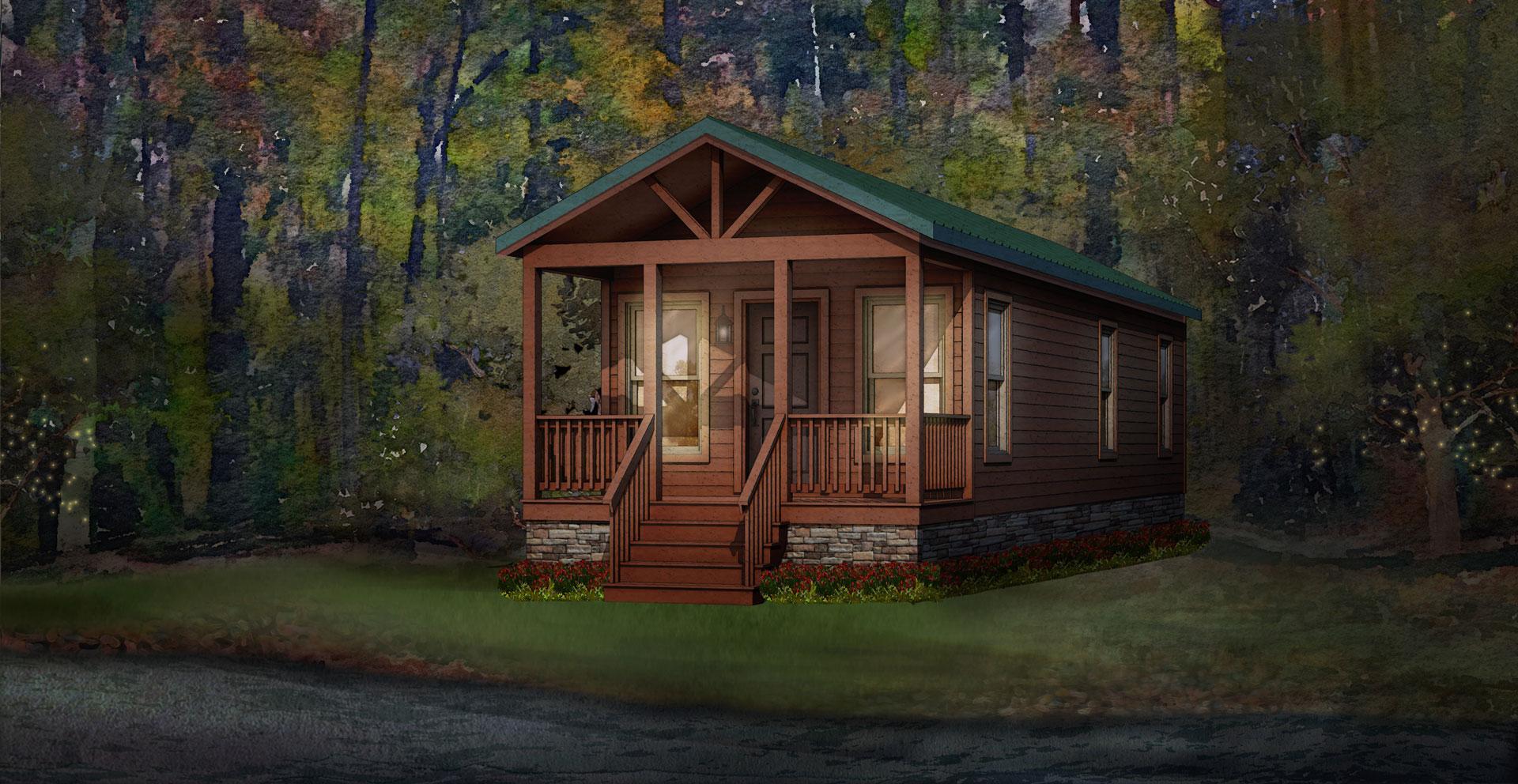 pine cove modular home rendering
