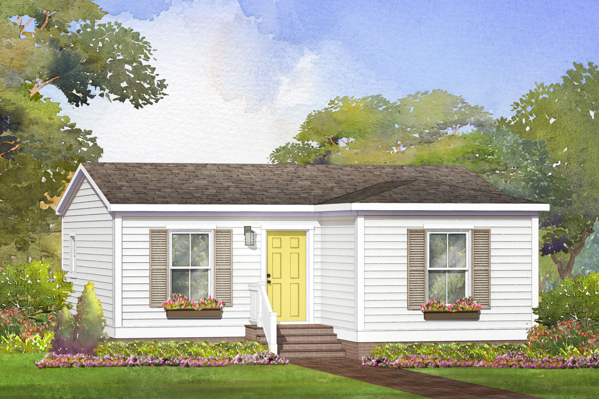 rebeccas cottage modular home rendering