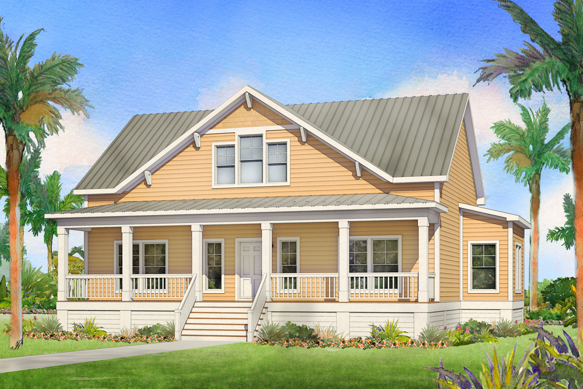 savannah modular home rendering